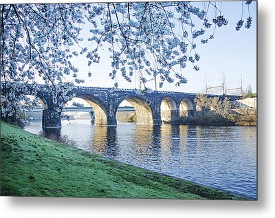 The Schuylkill River At Springtime Metal Print by Bill Cannon