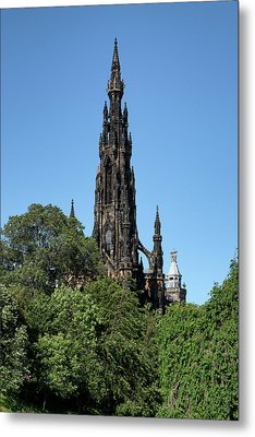 Metal Print featuring the photograph The Scott Monument In Edinburgh, Scotland by Jeremy Lavender Photography