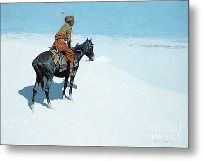 The Scout Friends Or Foes Metal Print by Frederic Remington