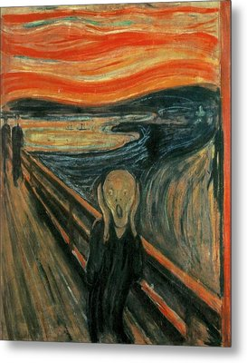 The Scream  Metal Print by Edward Munch