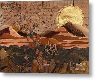 The Scream Of A Butterfly Metal Print by Stanza Widen