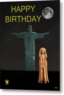 The Scream World Tour Rio Happy Birthday Metal Print by Eric Kempson