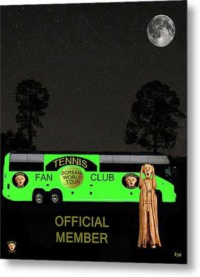 The Scream World Tour Tennis Tour Bus Metal Print by Eric Kempson