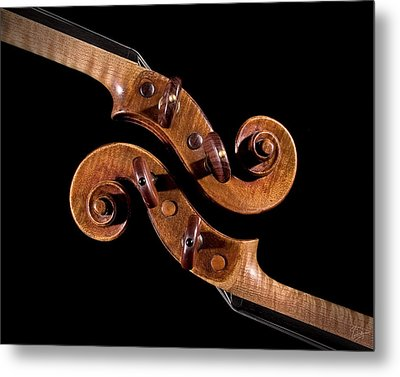 The Scroll And It's Clone Metal Print by Endre Balogh