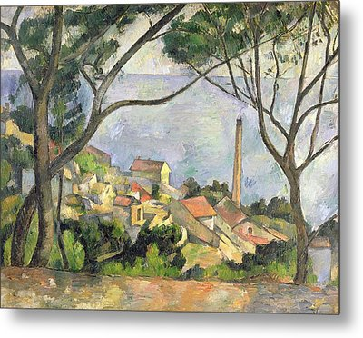 The Sea At L Estaque Metal Print by Paul Cezanne