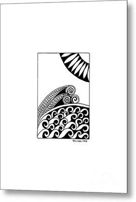 The Sea Metal Print by Billinda Brandli DeVillez