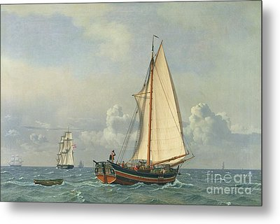 The Sea Metal Print by Christoffer Wilhelm Eckersberg