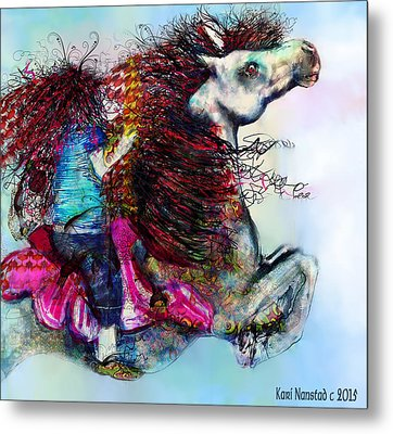 The Sea Horse Fairy Metal Print