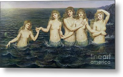 The Sea Maidens Metal Print by Evelyn De Morgan