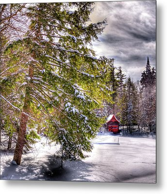 Metal Print featuring the photograph The Secluded Boathouse by David Patterson