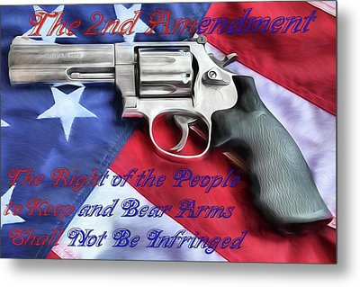 Metal Print featuring the digital art The Second Amendment by JC Findley