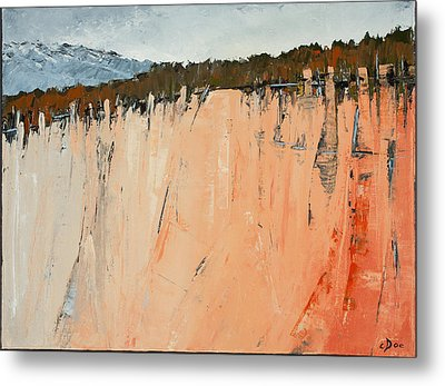 The Second Cliff Edge Metal Print by Carolyn Doe
