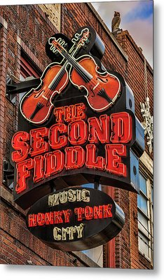 Metal Print featuring the photograph The Second Fiddle Nashville by Stephen Stookey