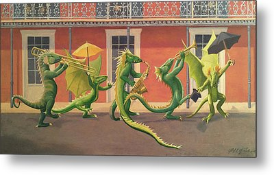 The Second Line Metal Print