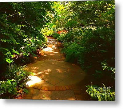 The Secret Path Metal Print by Becky Lupe