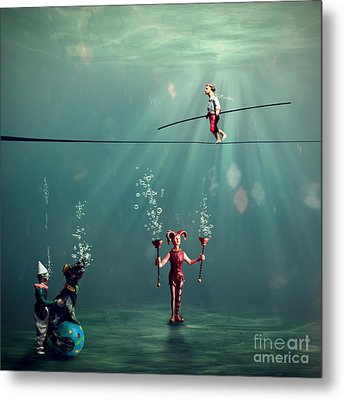 The Secret Venetian Circus Metal Print by Martine Roch