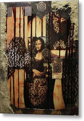 The Secrets Of Mona Lisa Metal Print by Michael Kulick