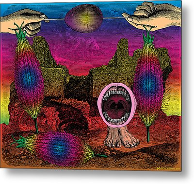 The Seed-pod Song Metal Print by Eric Edelman