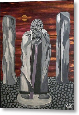 Metal Print featuring the painting The Seer by Carolyn Cable