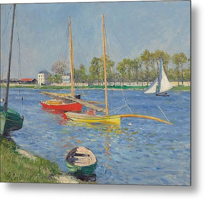 The Seine At Argenteuil Metal Print by Gustave Caillebotte