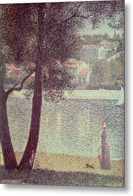 The Seine At Courbevoie Metal Print by Georges Pierre Seurat