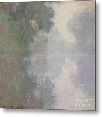 The Seine At Giverny, Morning Mists Metal Print by Claude Monet