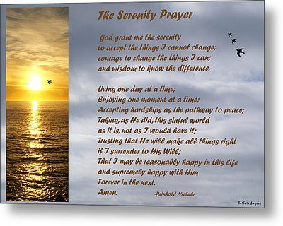 The Serenity Prayer Metal Print by Barbara Snyder
