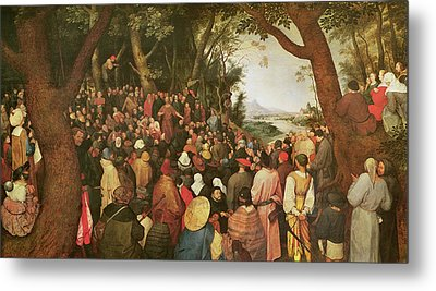 The Sermon Of Saint John The Baptist Metal Print by Pieter the elder Bruegel