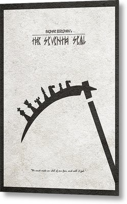 The Seventh Seal Aka Det Sjunde Inseglet Metal Print by Ayse Deniz