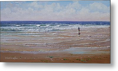 The Shell Collector Metal Print by Frank Wilson