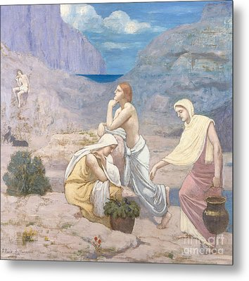 The Shepherd's Song, 1891 Metal Print by Pierre Puvis de Chavannes