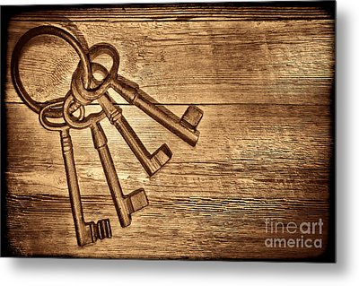 The Sheriff Jail Keys Metal Print by American West Legend By Olivier Le Queinec