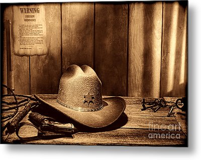 The Sheriff Office Metal Print by American West Legend By Olivier Le Queinec