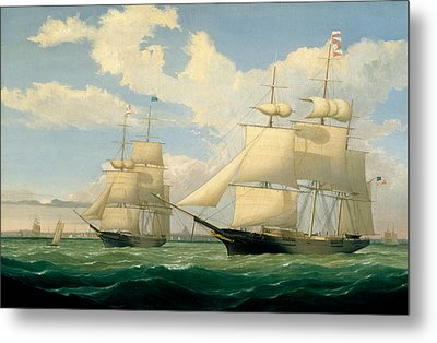 The Ships Winged Arrow And Southern Cross In Boston Harbor Metal Print