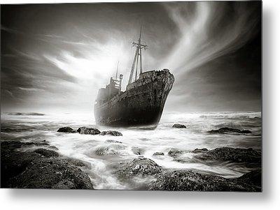 The Shipwreck Metal Print by Marius Sipa