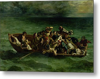 The Shipwreck Of Don Juan Metal Print by Ferdinand Victor Eugene Delacroix