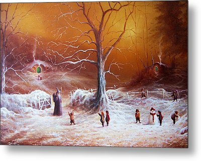The Shire First Snowfall Metal Print by Joe Gilronan