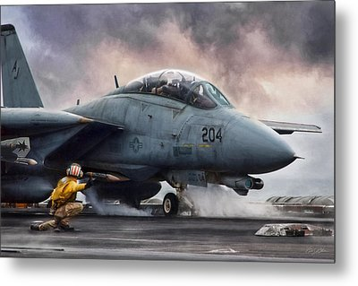 The Shooter Metal Print by Peter Chilelli