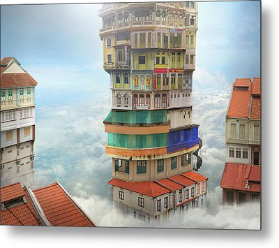 The Shop Towers Metal Print