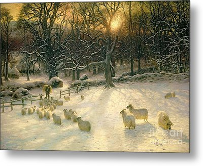 The Shortening Winters Day Is Near A Close Metal Print by Joseph Farquharson
