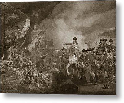 The Siege And Relief Of Gibraltar Metal Print by John Singleton Copley