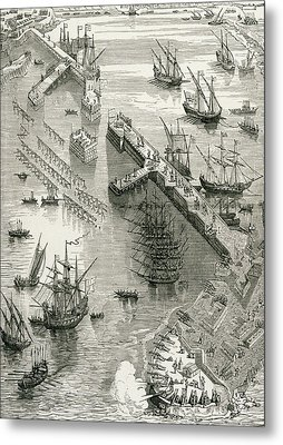 The Siege Of Rochelle Metal Print