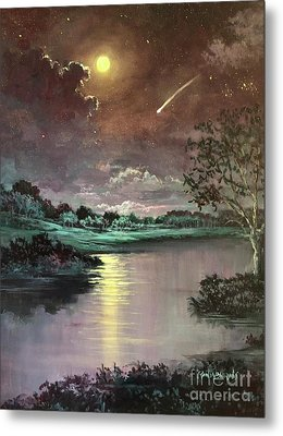 The Silence Of A Falling Star Metal Print