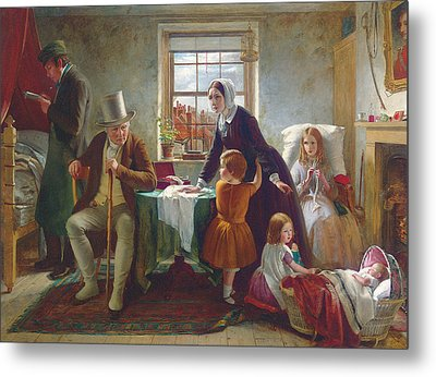 The Silence Of Pure Innocence Persuades Where Speaking Fails Metal Print by Thomas Brooks
