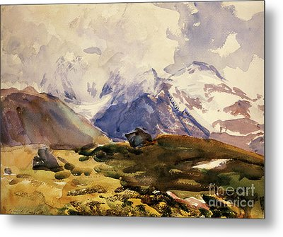 The Simplon Metal Print by John Singer Sargent
