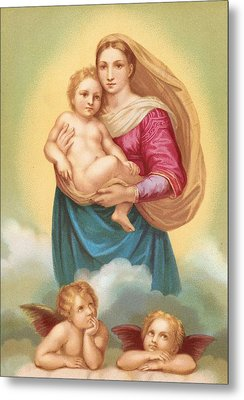 The Sistine Madonna Metal Print by Raphael