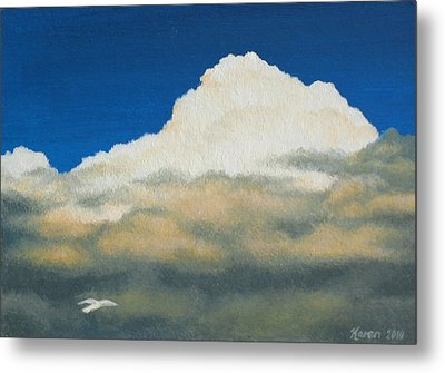 The Sky's The Limit Metal Print by Karen Coombes