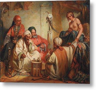 The Slave Market, 1853 Metal Print by Jean Francois Portaels