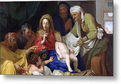 The Sleeping Christ Metal Print by Charles Le Brun