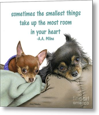 The Smallest Things Square Format Metal Print